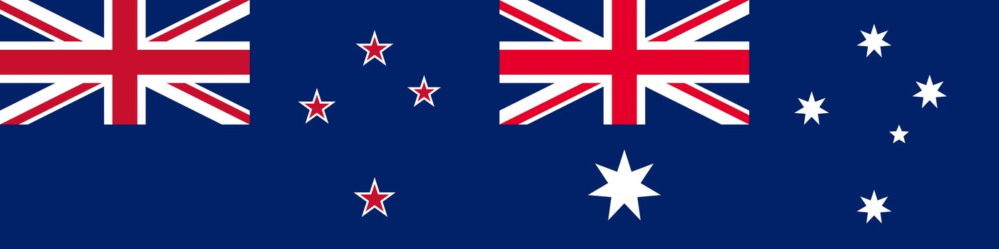 New Zealand and Australia flags