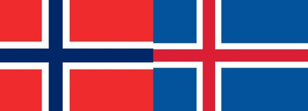 Norway and Iceland flags