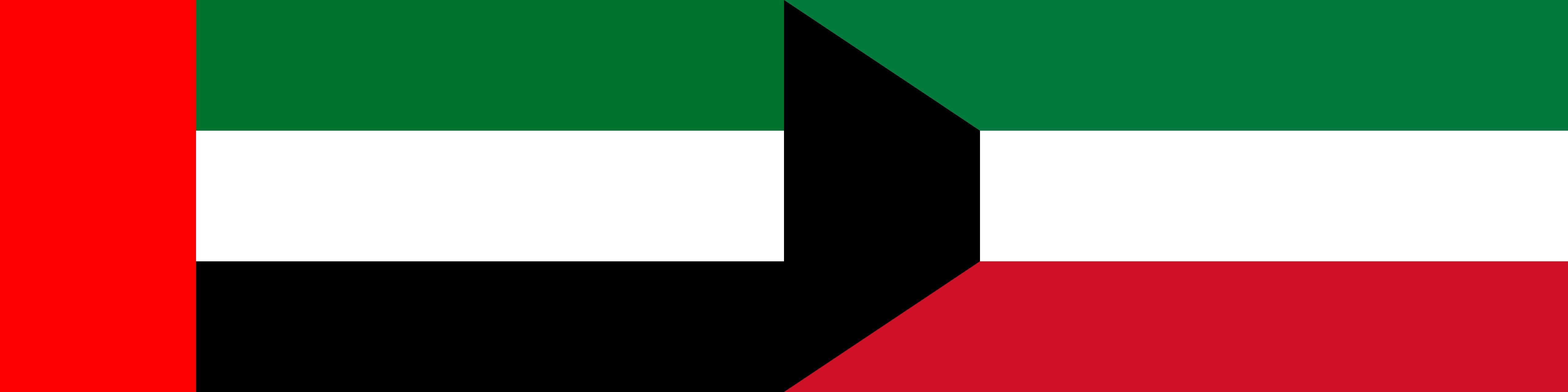 UAE and Kuwait flags